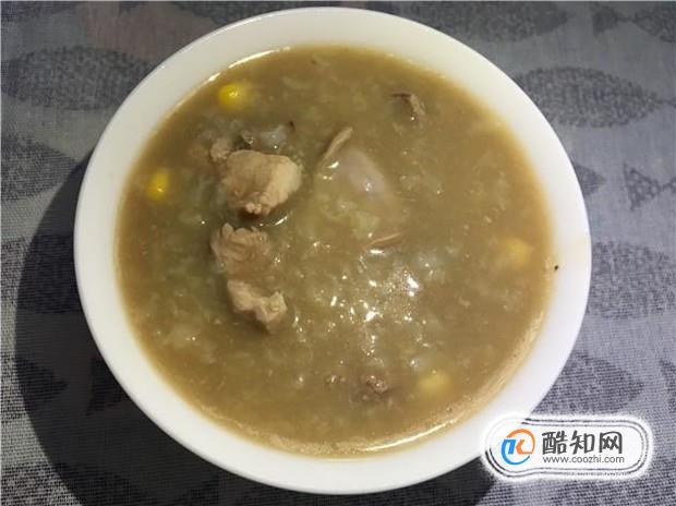 玉米豬肝瘦肉粥的美味做法