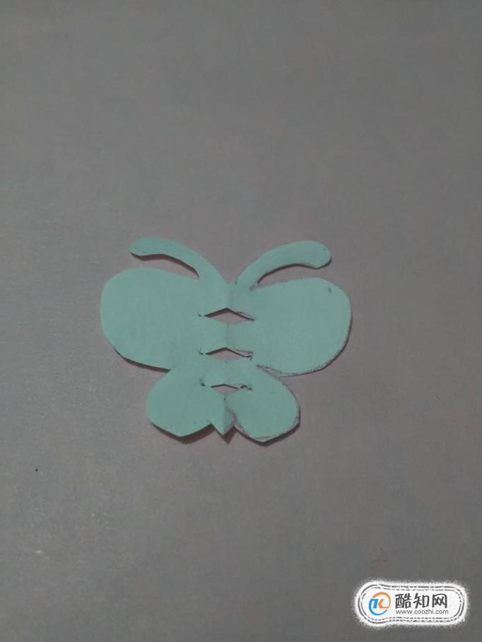 儿童剪纸之简易蝴蝶