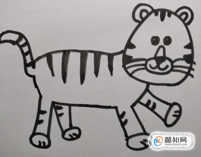 老虎的简笔画怎么画