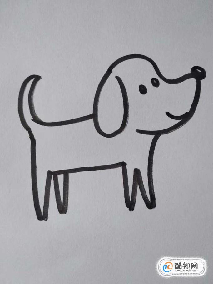 小狗的简笔画画法?如何画小狗的简笔画?