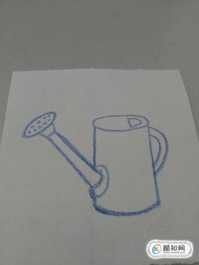 怎么畫澆花水壺、噴水壺的簡筆畫