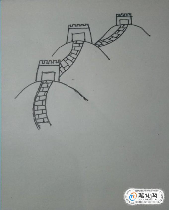 手繪長城簡筆畫教程-怎么教小孩畫長城兒童畫