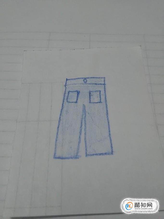 简笔画之一条小裤子