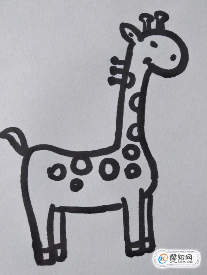 长颈鹿的简笔画怎么画?如何画长颈鹿的简笔画?