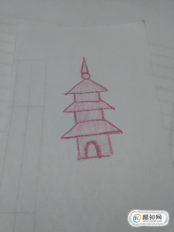 简单画宝塔的方法