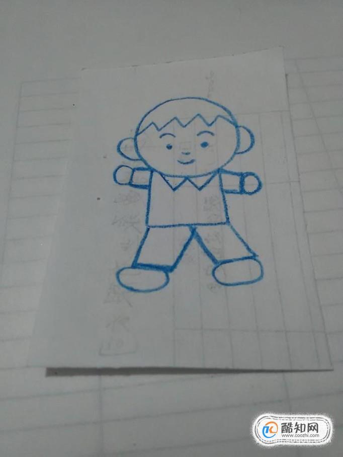 男孩的简单画法