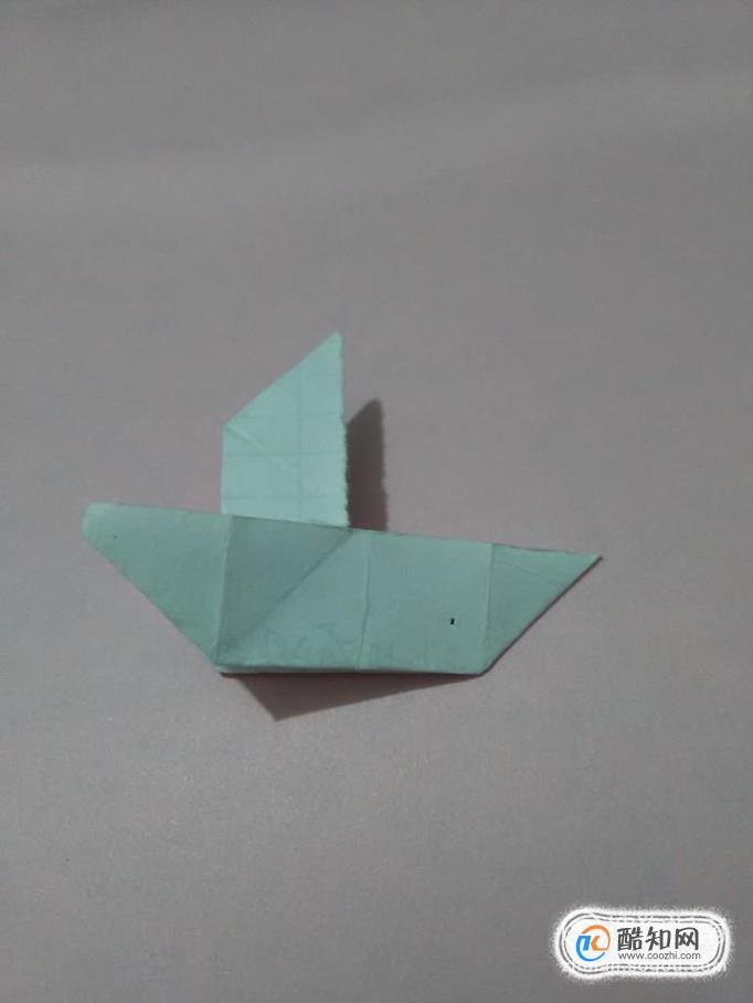 用正方形纸折纸船