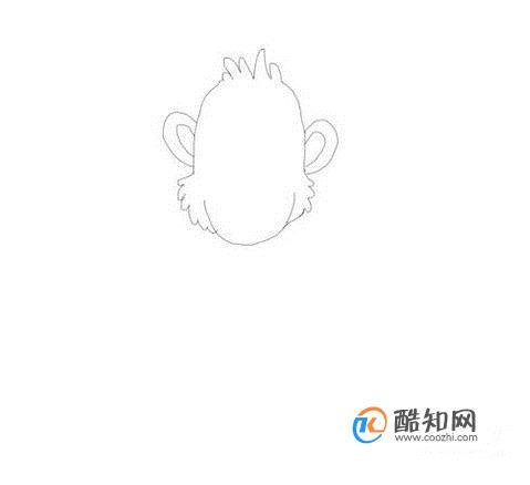 儿童简笔画大猩猩步骤教程