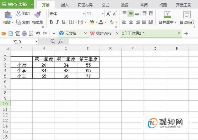 WPS表格如何进行分类汇总