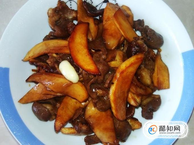杏鲍菇爆炒牛心的做法