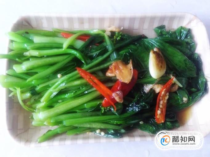 怎么才能把菜心炒得翠绿又整齐