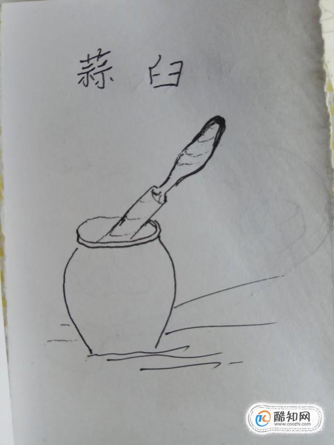 怎样画儿童简笔画蒜臼?