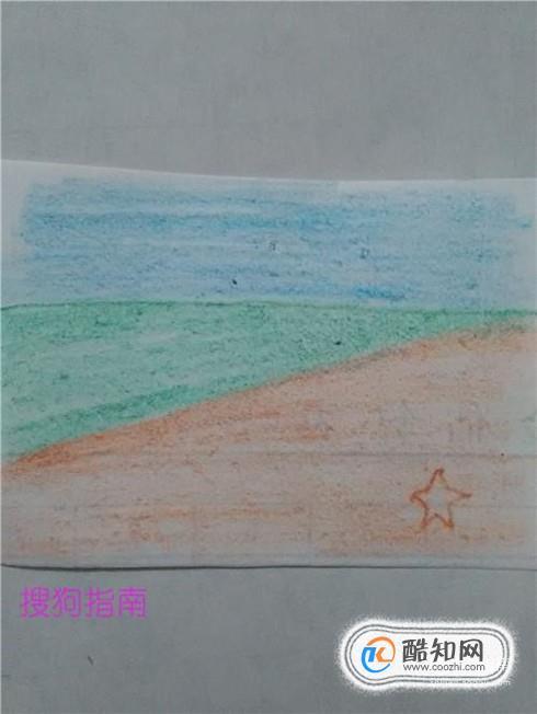 漂亮的沙滩跟海怎么画