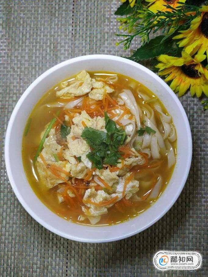 怎样做美味的胡萝卜鸡蛋汤面?
