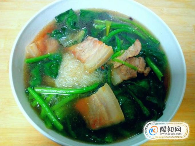 五花肉菠菜汤的家常做法