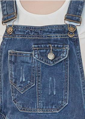 背带裤的扣子怎么装图解法_服饰_经验知识百科全书