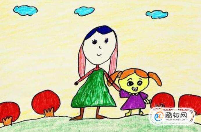 怎樣畫一幅母親節送給媽媽的兒童畫?