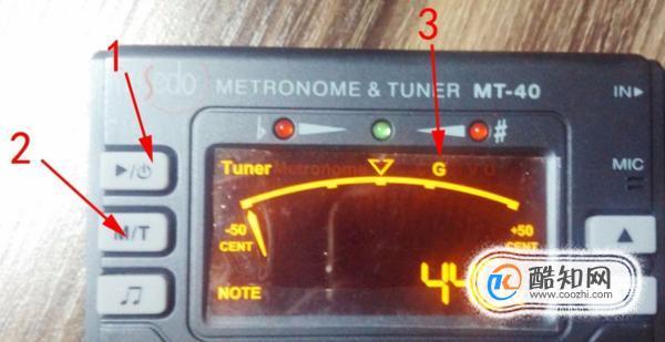 吉他调音器的使用方法(一分钟学会)