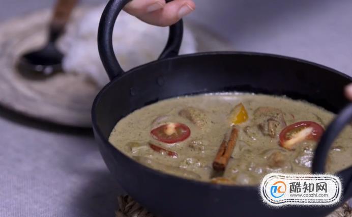 青咖喱鸡肉的做法