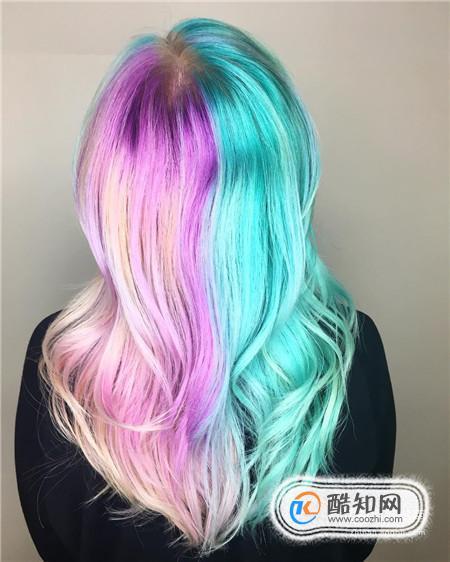 好看的染色头发图片