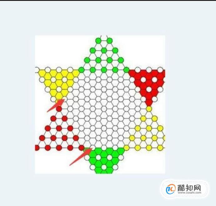 1v1跳棋常用的一種開頭方法