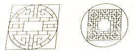 外圓內方和外方內圓中圓和正方形之間的面積