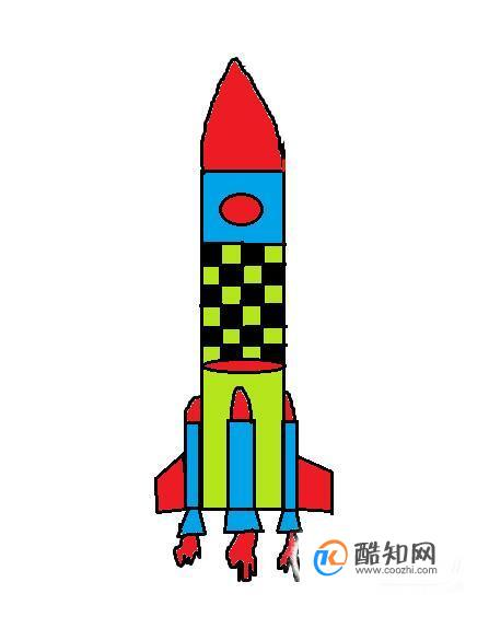 怎样画火箭简笔画
