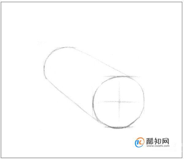 如何畫結構素描圓柱體