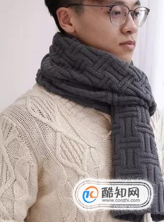 給男朋友織圍巾怎么選針法和顏色