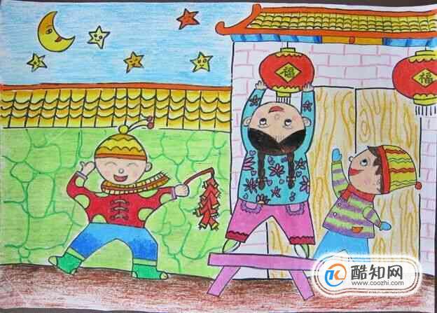 過春節的兒童畫怎樣畫?