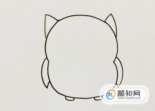 貓頭鷹怎么畫