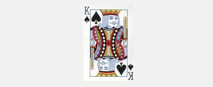 扑克牌黑桃K上为什么常有竖琴图案?
